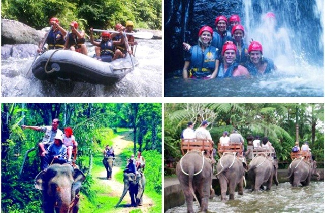 Bali Things to do elephant safari and water rafting